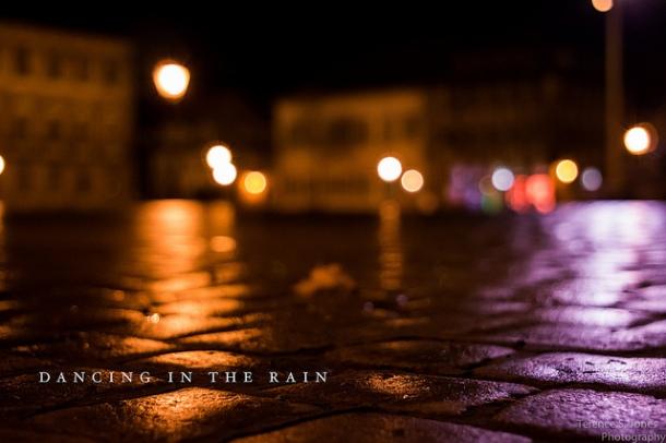 dancingin rain